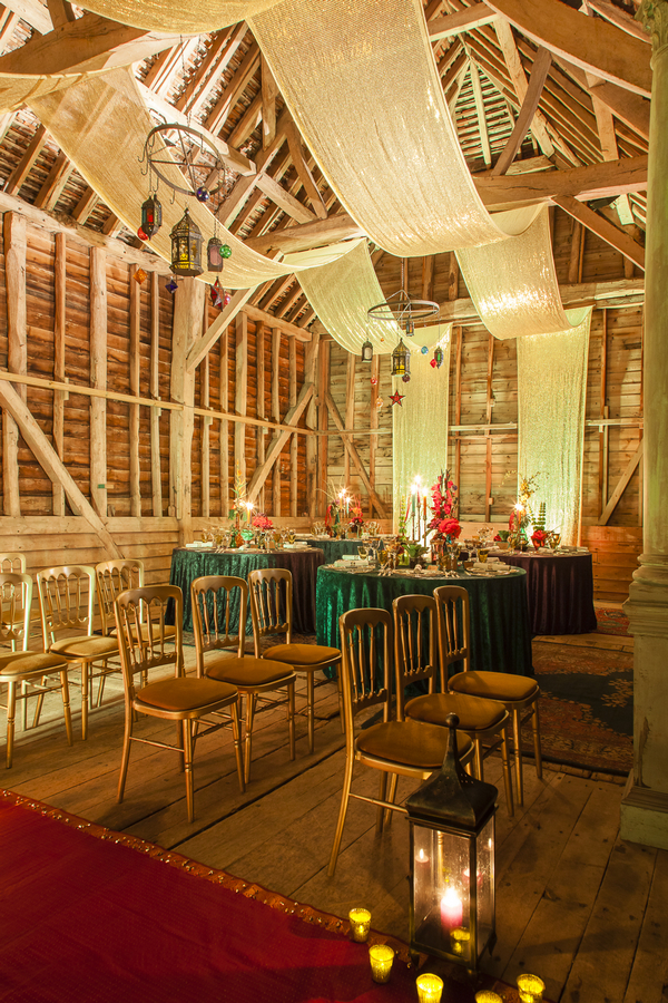 Ceremony chairs and wedding tables