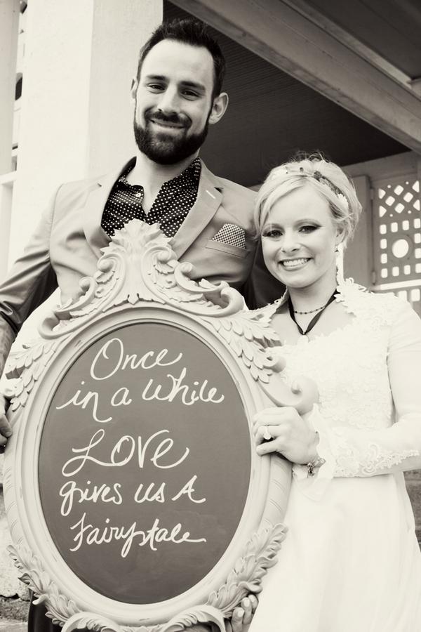 Cinderella bride and Prince Charming groom