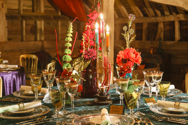 Fusion wedding table styling