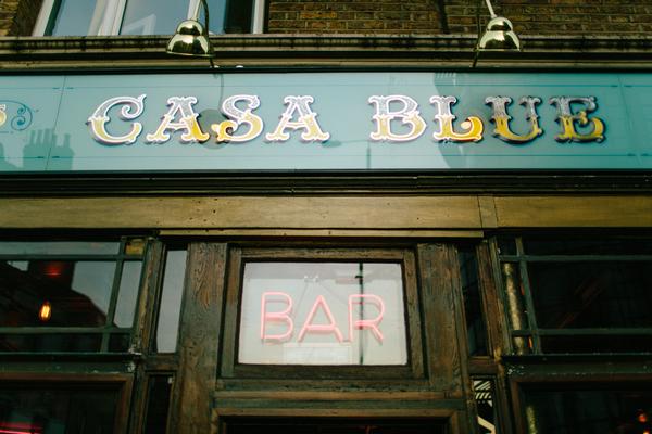 Casa Blue sign