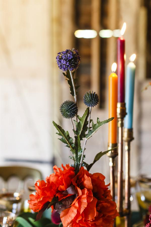 Oriental style flowers