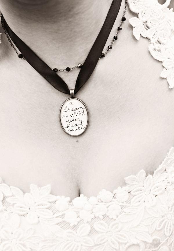 Cinderella bride's locket