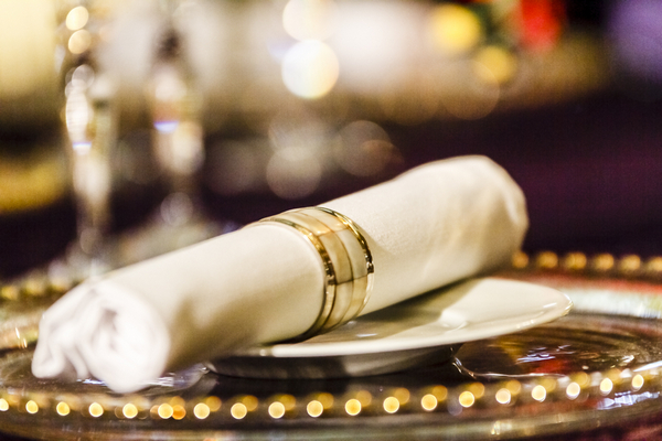 Napkin with ring