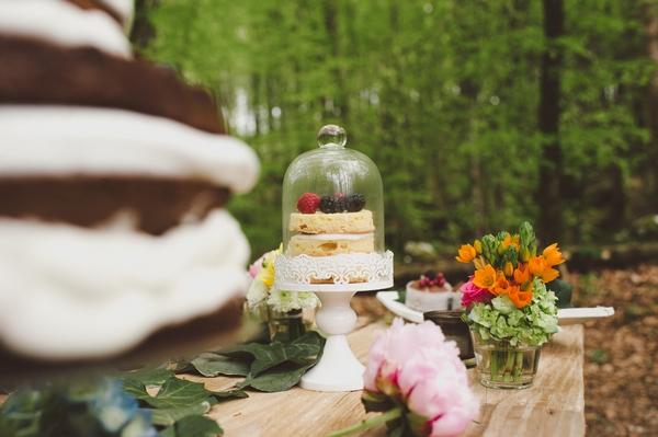 Wedding cake on table