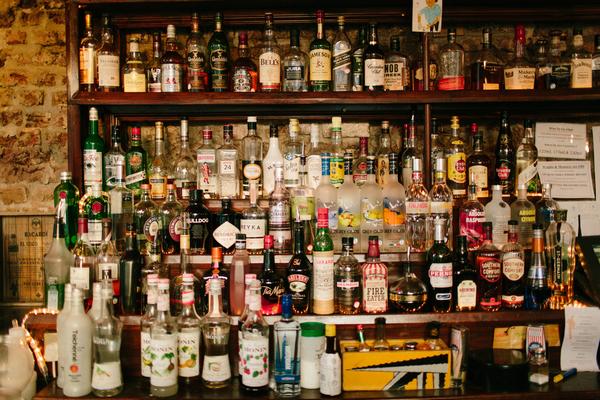 Spirits behind bar