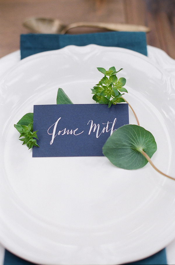 Blue card wedding place name