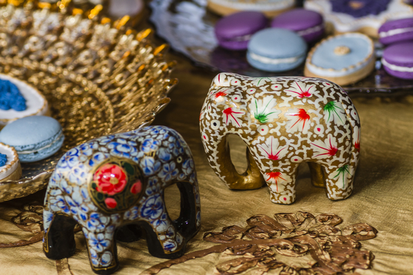 Asian elephant ornaments