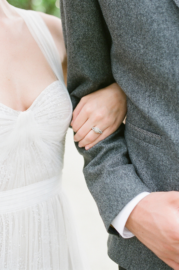 Bride and groom with linked arms