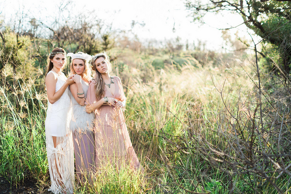 Free-Spirited Bohemian Bridesmaid Styling