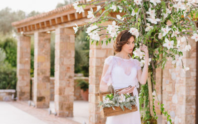 Chic Botanical Wedding Styling in Greece