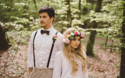 Colourful, Woodland, Boho Wedding Styling