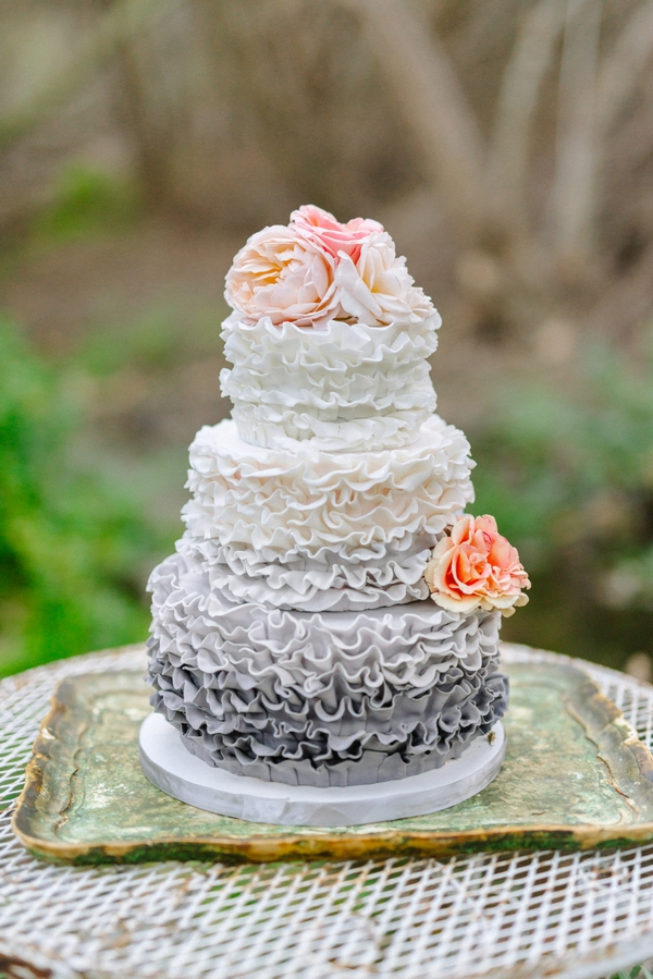Ruffled detailed cake