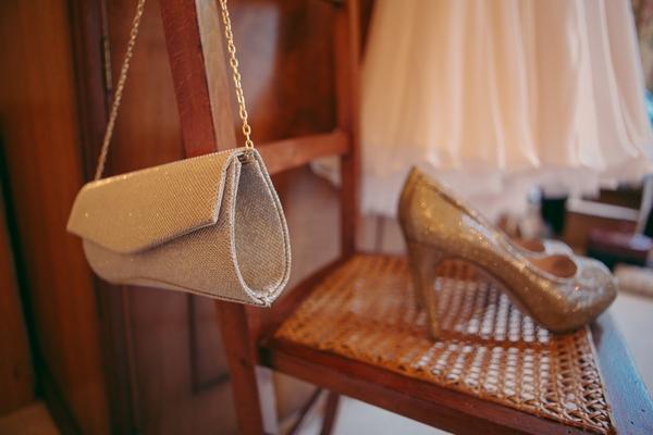 Handbag and wedding shoes