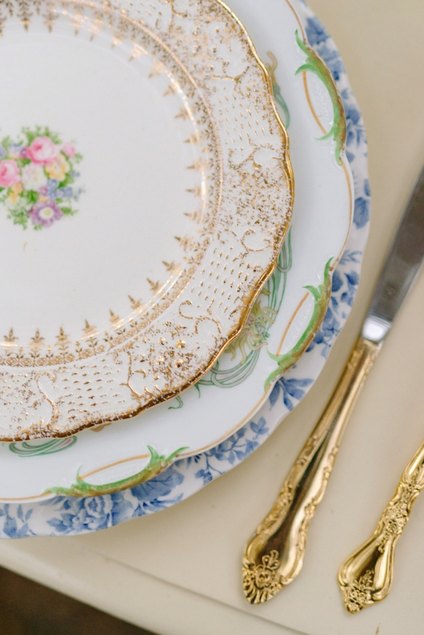 Detail on china plate