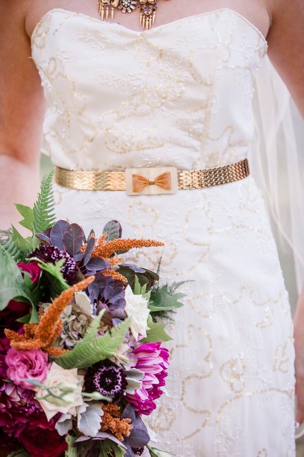 Bride's gold belt