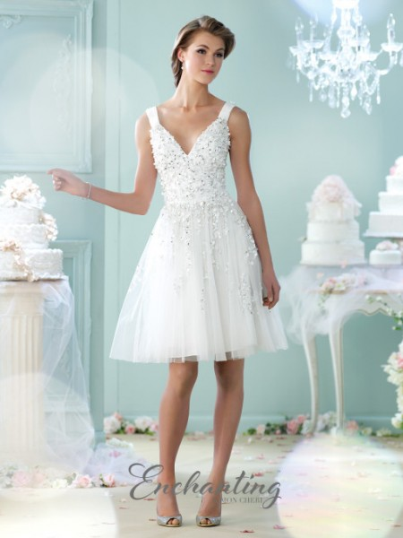 Picture of 215104 Wedding Dress - Enchanting by Mon Cheri Fall 2015 Bridal Collection