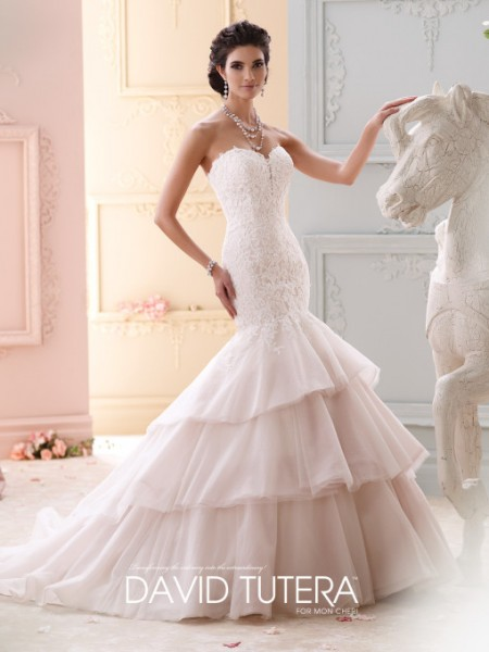 Picture of 215262 - Adrian Wedding Dress - David Tutera for Mon Cheri Fall 2015 Bridal Collection