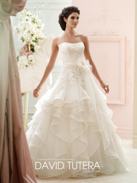 Picture of 215270 - Guinevere Wedding Dress - David Tutera for Mon Cheri Fall 2015 Bridal Collection