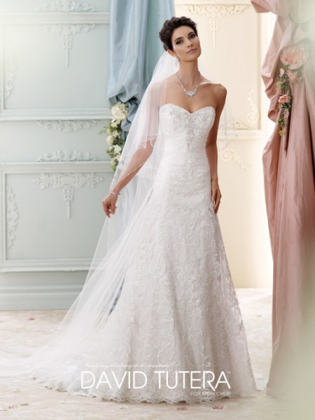Picture of 215271 - Delia Wedding Dress - David Tutera for Mon Cheri Fall 2015 Bridal Collection