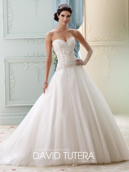 Picture of 215273 - Velvet Wedding Dress - David Tutera for Mon Cheri Fall 2015 Bridal Collection