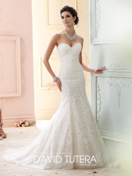 Picture of 215274 - Cass Wedding Dress - David Tutera for Mon Cheri Fall 2015 Bridal Collection