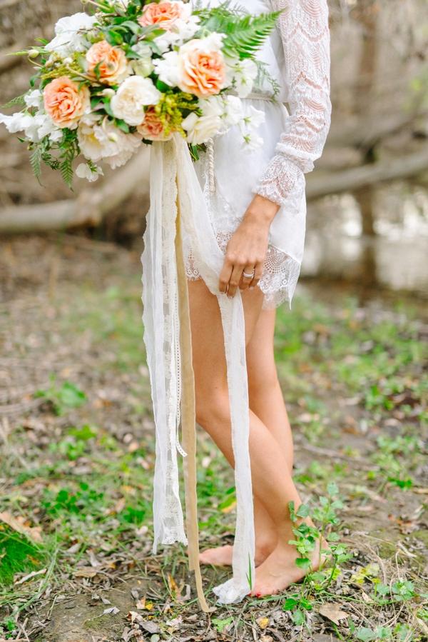 Bride's legs