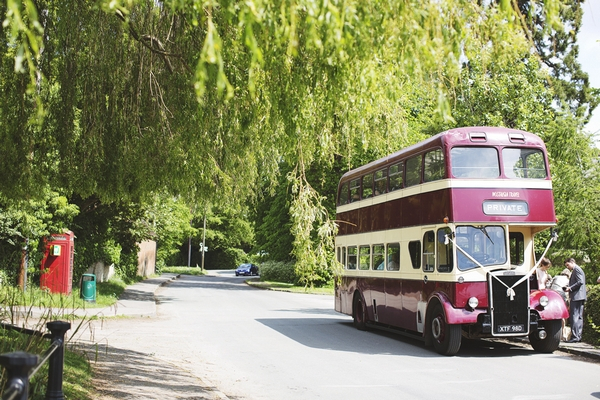 Double decker bus for wedding