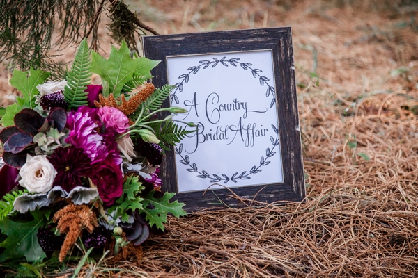 A Country Bridal Affair sign