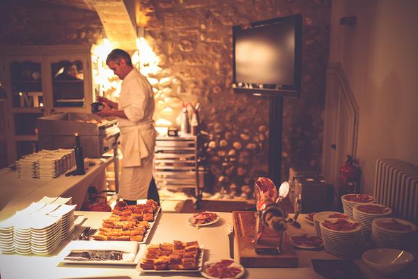 Chef preparing wedding food