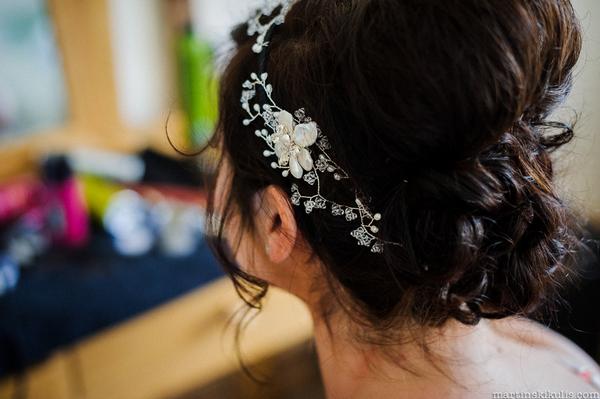 Bride's Hermione Harbutt headdress