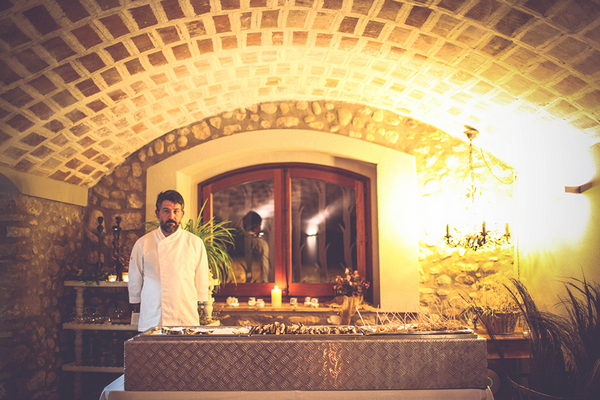 Wedding food at Mas Terrats, Girona