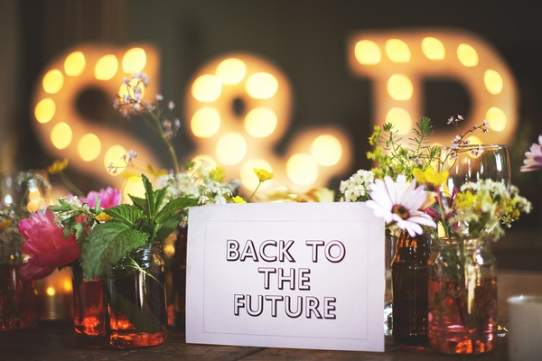 Back to the Future wedding table name