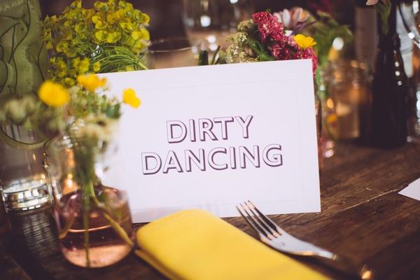 Dirty Dancing wedding table name