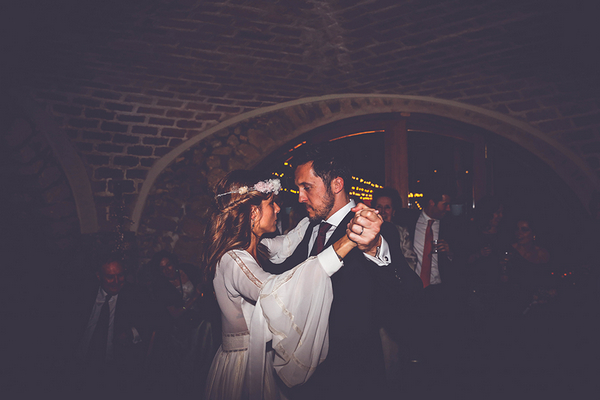 Bride and groom dancing at Mas Terrats, Pontós, Girona