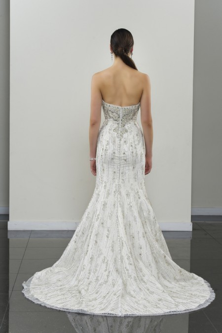 Picture of Back of Agape Wedding Dress - Yumi Katsura Modern Love Fall 2015 Bridal Collection