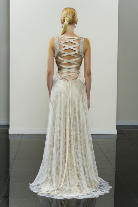 Picture of Back of Amala Wedding Dress - Yumi Katsura Modern Love Fall 2015 Bridal Collection