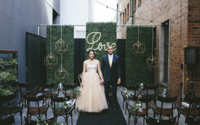 Urban Chic 'Electric Lemon' Wedding Styling