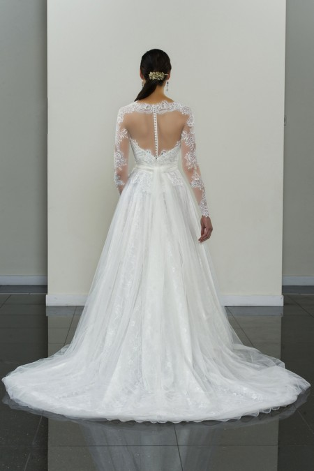 Picture of Back of Ardsley Wedding Dress - Yumi Katsura Modern Love Fall 2015 Bridal Collection