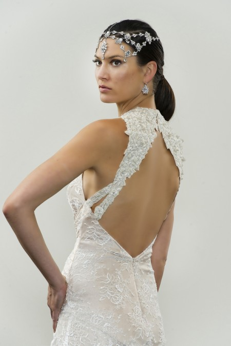 Picture of Back of Aziz Wedding Dress - Yumi Katsura Modern Love Fall 2015 Bridal Collection