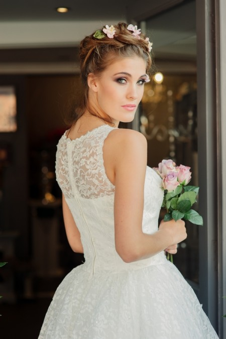 Picture of Back of Betty Blossom Wedding Dress - Kitty and Dulcie Village Affair 2015 Bridal Collection