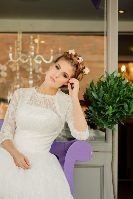 Picture of Betty Blossom Wedding Dress with Betty's Bolero - Kitty and Dulcie Village Affair 2015 Bridal Collection