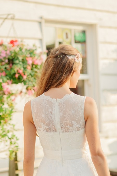 Picture of Back of Summer Rose Wedding Dress - Kitty and Dulcie Village Affair 2015 Bridal Collection