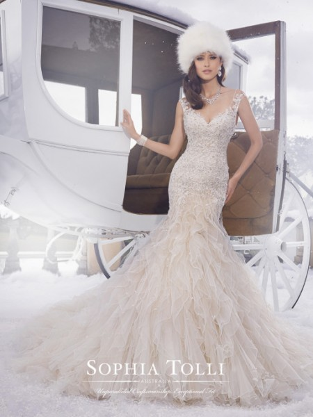 Picture of Y21502 Blake Wedding Dress - Sophia Tolli Fall 2015 Bridal Collection