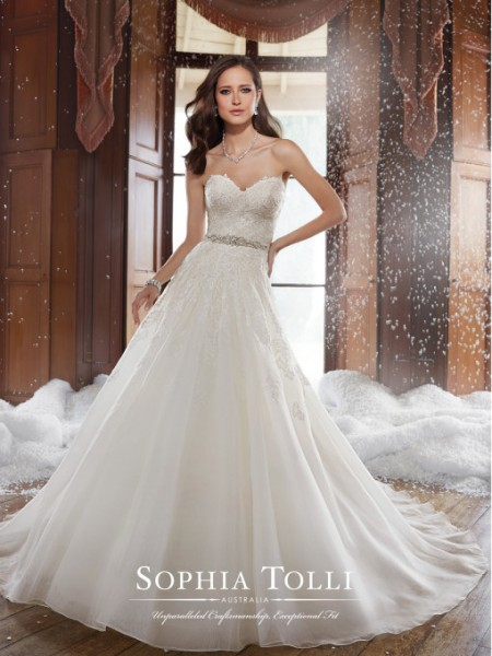 Picture of Y21503 Peyton Wedding Dress - Sophia Tolli Fall 2015 Bridal Collection