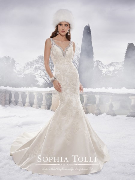 Picture of Y21505 Brook Wedding Dress - Sophia Tolli Fall 2015 Bridal Collection