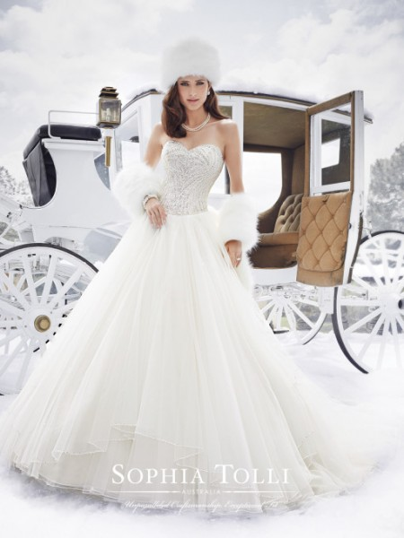 Picture of Y21506 Cassidy Wedding Dress - Sophia Tolli Fall 2015 Bridal Collection