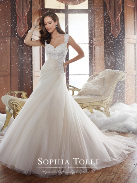 Picture of Y21508 Sidney Wedding Dress - Sophia Tolli Fall 2015 Bridal Collection