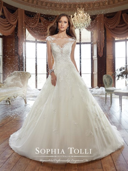 Picture of Y21509 Sam Wedding Dress - Sophia Tolli Fall 2015 Bridal Collection