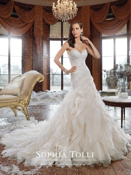 Picture of Y21511 Cameron Wedding Dress - Sophia Tolli Fall 2015 Bridal Collection
