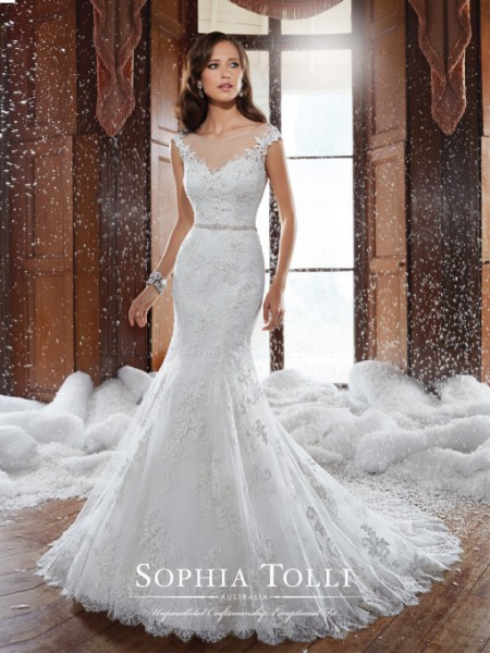 Picture of Y21512 Spencer Wedding Dress - Sophia Tolli Fall 2015 Bridal Collection